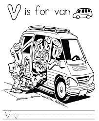 alphabet coloring pages printable van alphabet coloring pages of