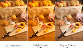 what is tungsten light color temperature and food photography