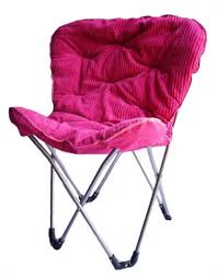 Butterfly Folding Chair Comfort Padded Butterfly Chair Foldable Pink College Dorm
