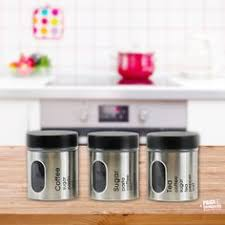 silver kitchen canisters purple tea coffee sugar canisters bread bin storage set 5 kitchen
