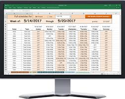 Print Spreadsheet Powerful Excel Based Scheduler For Call Center Agent Schedules