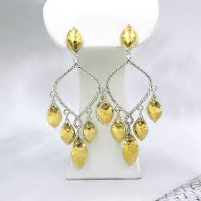 silver chandelier earrings hardy sterling silver yellow gold chandelier earrings the