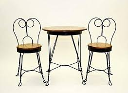 ice cream parlor table and chairs set antique reproduction ice cream parlor furniture set table and 2