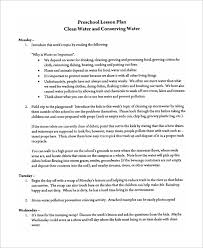 sample preschool lesson plan 9 examples in word pdf