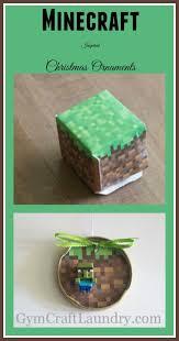 how to make a handmade minecraft ornament