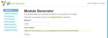 yii module layout problem web development stuff from www suriyan in
