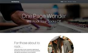 free bootstrap one page themes start bootstrap