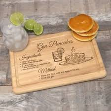 funny cutting boards gin pancakes recipe wooden chopping board for gin lovers gift