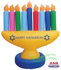 large menorah air blown 7 hanukkah menorah