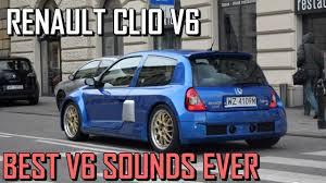 renault clio v6 rally car renault clio v6 sound exhaust compilation best sounding v6 youtube