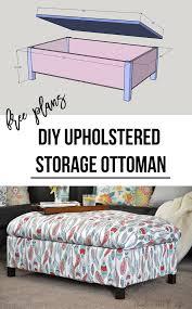 Upholstered Storage Ottoman Diy Upholstered Storage Ottoman Anika U0027s Diy Life