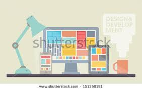 Desk Top Design Website Design Stock Images Royalty Free Images U0026 Vectors