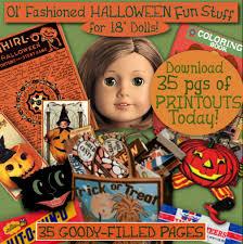 ag halloween printouts fun stuff 18 inch doll american