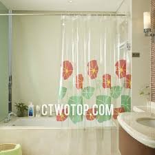 lotus leaf patterns lovely clear shower curtain