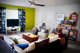 Interior Wall Colors by Green Accent Wall The Doodle House
