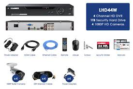 4 camera security system with 1tb digital video recorder and 1080p
