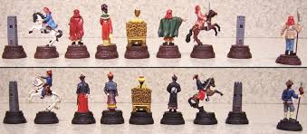 lionheart designs international qing dynasty chess set pieces
