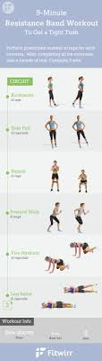 resistance band workouts 9 mins to a tush
