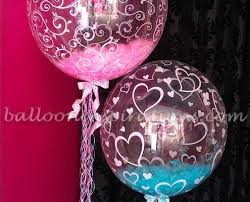gender reveal balloons in a box baby gender reveal party ideas