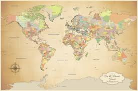 New World Map by Cotton Anniversary World Push Pin Map Multiple Color Options