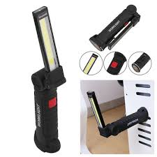 rechargeable magnetic work light qoo10 cob flashlight torch usb rechargeable led work light