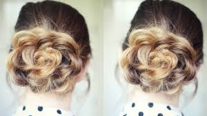 and easy flower bun hairstyle school hairstyles