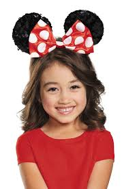 Minnie Mouse Halloween Costume Toddler Red Minnie Mouse Sequin Child Ears Purecostumes