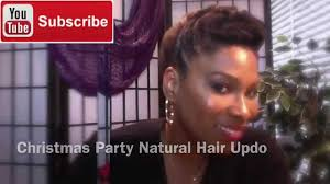 natural hair christmas party updo 4c hair 44 youtube