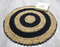 Shabby Chic Kitchen Rugs Crochet Cat Rug Etsy