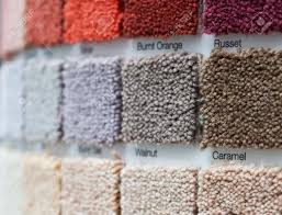 carpet display in a retail shop with multiple square samples