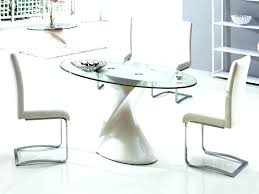 Glass Top Pedestal Dining Room Tables Glass Top Pedestal Table Oval Glass Dining Room Table For