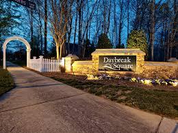home lighting salisbury nc daybreak square entryway lighting for hoa community in greensboro nc