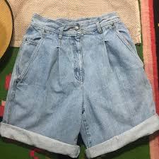 light wash denim shorts clifford and wills pants 80s style light wash denim shorts mom