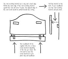 Wall Mounted Headboard Headboard Fitting Instructions Catherine Haddoncatherine Haddon