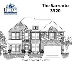 the sarrento seven oaks new home floor plan burleson texas