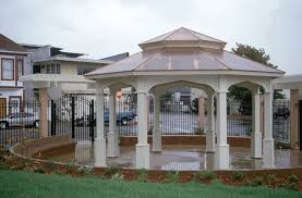 octagon gazebo with type e pagoda style copper roof gothic arch