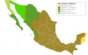 Time Zone Map World Clock by Time In Mexico Wikipedia