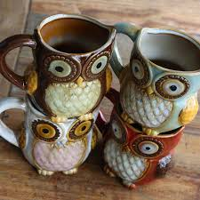 owl mug 3d owl mug myrtle and thistle