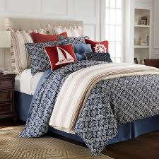 Nautical Bed Sets Delectably Yours Com Monterrey Navy Blue Nautical Duvet Cover Set