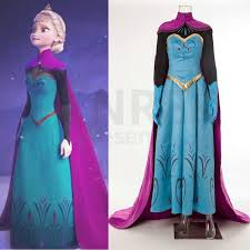 disney movie frozen elsa coronation dress costumes cosplay