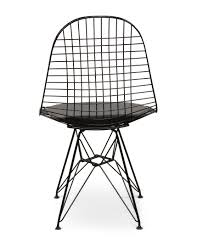 Replica Vitra Chairs Dkr Wire Dining Chair Eames Replica Black Frame Black Seat