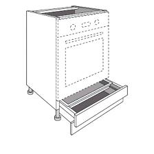 meuble de cuisine four four a tiroir meuble de cuisine pour fours avec 1 tiroir socle