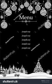 christmas menu design restaurant cafe menu stock vector 517433296