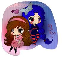 anime chibi anime chibi art me and my best friend by lsarapier on deviantart