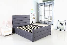 modernique amore fabric bed frame in grey stylish and strong