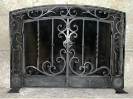 wrought iron fireplace screens mather sullivan architectural