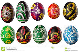 decorative eggs collection of decorative easter eggs stock image image of yellow