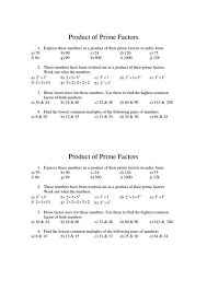product of primes by tristanjones teaching resources tes