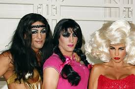 men in katie price u0027s life dress up as women for her book lauch