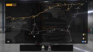 Truck Route Maps by Coast To Coast Map V1 6 For Ats American Truck Simulator Mod